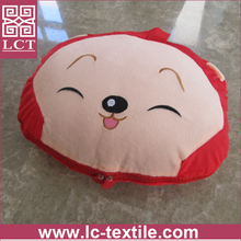 supply cute design animal shaped Soft and comfortable hug cushion with folding blanket(LCTP0077)