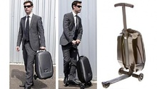 Free Shipping New design suitcase foldable micro luggage scooter with multi function all in one