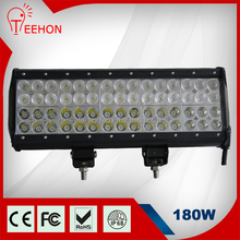 4 rows 180w offroad led driving light bar with aluminium alloy housing