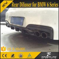 V Style F06 F12 F13 Carbon Fiber Auto Rear Bumper Diffuser for BMW M-Sport M-Tech Bumper 2014