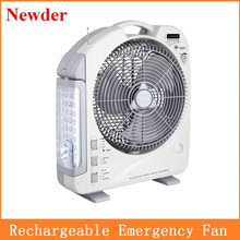 LED rechargeable electric fan light with Radio and MP3 Player