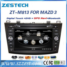 "ZESTECH audio player dvd gps 8"" car audio for Mazda 3 car audio player gps function"