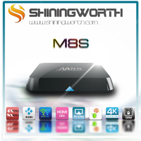 Android Smart TV Box M8S Amlogic S812 android 4.3 quad core tv box 4k android tv