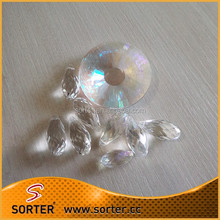 Multifaceted Teardrop Shaped Crystal Glass Beads