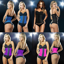 Women Steel Boned Rubber Body Slimming Sculpting Clothes Waist Abdomen Latex Corset Cincher With 3 Hooks