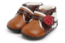 2015 new styles of fashion Italian leather baby winter soft sole shoes