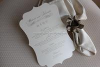 custom die cut menu card wholesale