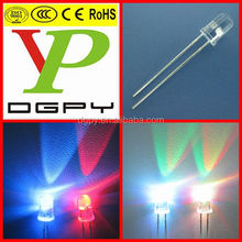 5mm round white RGB led diodes