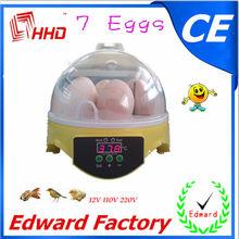 la ce de pequeña escala para incubar termostato automático para la incubadora para el hogar 7 huevos para la venta ew9-7
