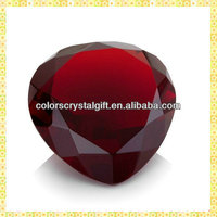 Wholesale Red Heart Shape Crystal Diamonds For Business Gifts