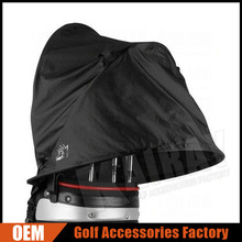 Custom Golf Bag Rain Covers, Black Waterproof Golf Bag Rain Hood
