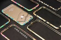New Style Cell Phone Case For Iphone6 6plus Luxury Diamond Metal Edge Frame