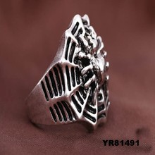 Fashion man ring prices zinc alloy jewelry skull fashion man ring