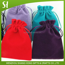 Customized Logo Wholesale colorful Eco-Friendly Velvet pouch/velvet jewelry pouch / velvet bag for Gift Jewelry Cosmetic