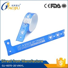 17 years manufacture experience all kinds of branded waterproof vinyl wristbands