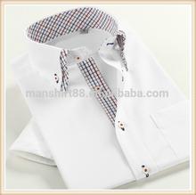 2014 new design for man double collar garment summer shirt man shirt