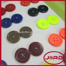 fancy color two hole or four hole white color resin button with low price fashion buttons coat buttons