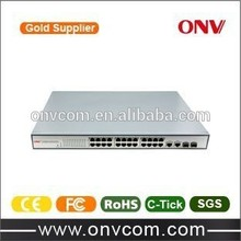 Managed 24 port POE Switch,1 U Rack Mount,CE & FCC & ROHS approval, IEEE802.3af/at
