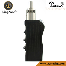 factory price and high quality and best service tesla invader box mod black wood box mod from kingzone