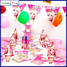 pink Children hot sale party supplies birthday party little girl favourate paper themed decorations