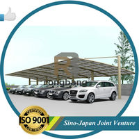 2015 Newest aluminium carport for one cars with pc shelter LR- single model