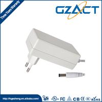 UL listed wall mount eu plug 12v 2a power adapter