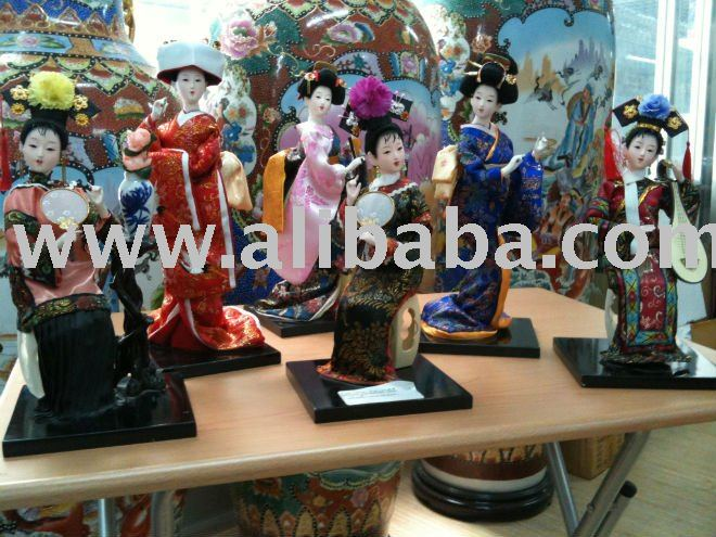 Asiático bonecas de porcelana