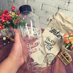 Eco-friendly Large Water Storage Bottle bpa free bottle fruit glass