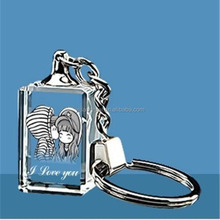 crafts in fashion custom I love you crystal keychain for Valentine's Day