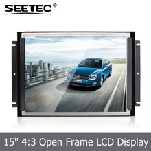 SEETEC 1024*768 open frame monitor 4 Wire Resistive Touch 15 inch lcd module with LED backlight for industrial CNC machinary