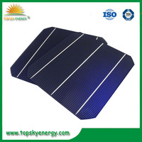 2015 Best price for a solar cell 6x6 inch 156x156mm mono silicon solar cell low price for solar panel made in Taiwan