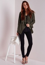 Hottest China Wholesale High Quality Woman Jacket Faux Suede Waterfall Jacket