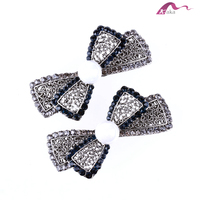 Vintage Antic Hair Clips Wholesale Chunky Crystal Decorative Hair Clips Big Pearl Bowknot Barrettes For Girls Hair Ornaments