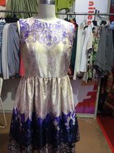 Wholesale Women Classic Floral Print Vintage Dress