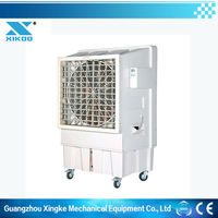 industrial stand water air cooler fan with LCD display