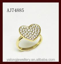2015 fashion trendy heart shape women wedding ring
