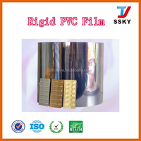 Plastic sheet pvc rigid film 0.5mm thick blister pack specificarions