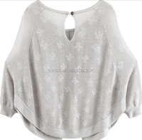 15STC7801 spring/summer crochet poncho sweater