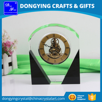 Elegant Wholesale Crystal Desk Clock, Table Clock, Clock Crystal Gift