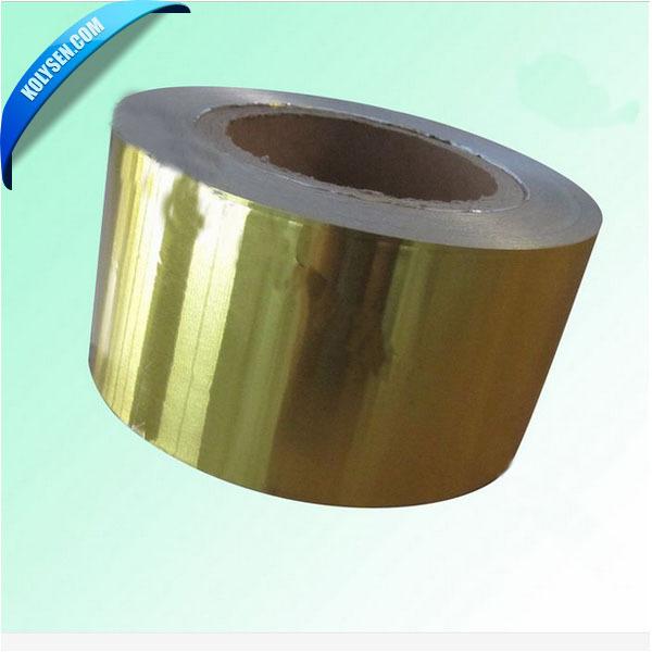 Or feuille d'aluminium papier d'emballage stratifié