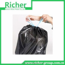 HDPE Black Heave Duty Plastic Drawstring Garbage Bag for Bin