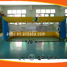 customized inflatable water football pitch, football filed, portable soccer field