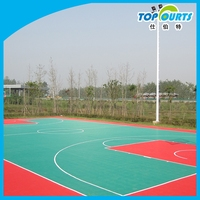 Polypropylene(PP) basketball court with standard size for sale