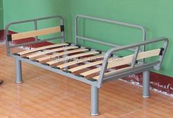 Bedroom furniture wood slat base adjustable single bed frame