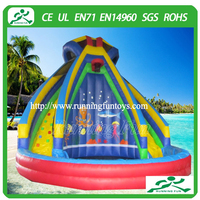 Most popular banzai inflatable water slide for pool/commercial grade inflatable water slides