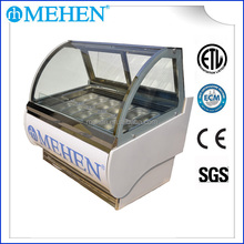 Ice Cream Display Freezer with Transparent Plate made in china