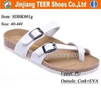 2015 new wooden cork sole shoes sandals for men