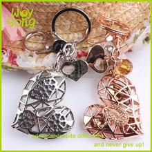 Newest hollow design heart keychain/heart shape keychain/broken heart keychain