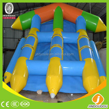 2015 China wholesale funny competitive price cool water sport 6 players custom inflatable towable flying fish boat with CE