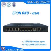 8FE lan port RJ45 connector DATA EPON ONU,GEPON MDU Fiber optic network FTTH FTTx